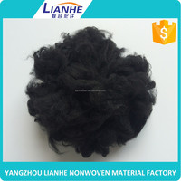 wholesale alibaba black recycled polyester fiber plant
