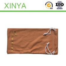 Single with rope to open/Simple/Pattern/ text/ /Heat transfer/Custom Microfiber Glasses Bags with Compounded ClothFor Glasses