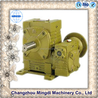 WP Series double flange wheel Worm agriculture Reduction Gear box Transmission Gearbox Parts Electric Motor for wind turbine