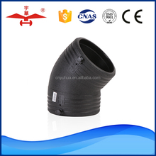 China Factory Supplier Made In High Quality socket 45 degree elbow hdpe pipe fittings
