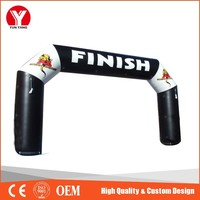 Start finish line outdoor event inflatable arch newly design entrance arch for racing and advertising