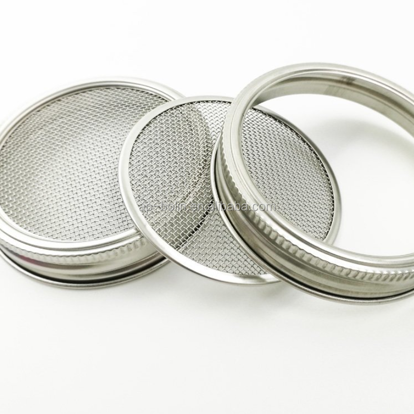 Food grade stainless steel mesh sprouting screens for mason jar lid