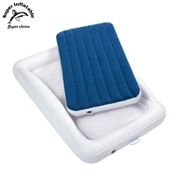 Lightweight White Flocked PVC Outdoor Inflatable Children Toddler Kids Baby Travelling Air Bed(Airbed) OEM