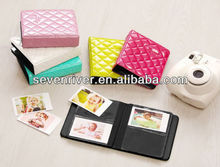 New Arrivel Colourful Diamond Photo Album/Bright PU Photo Album Organizer Bag For Fujica Instant Mini Photos