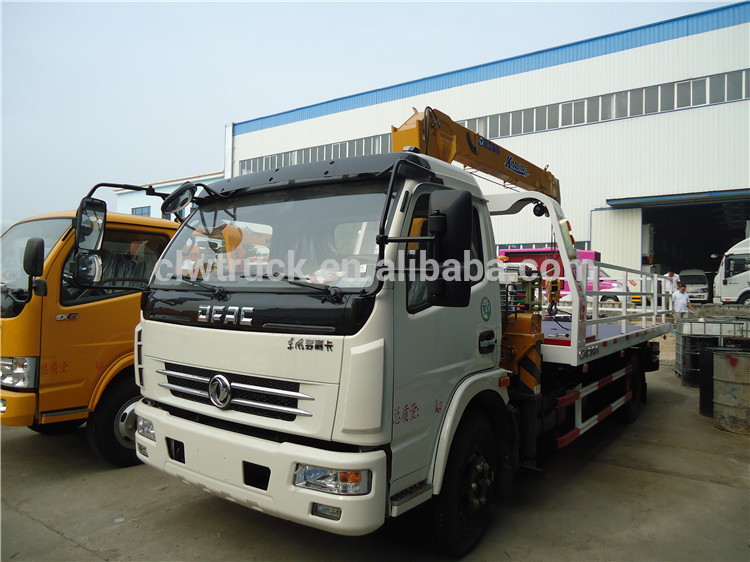 New Euro 5 DFAC road rescue wrecker truck with crane at good price