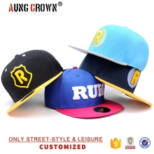 snapback hat with embroidery patch/two tone plain snapback hat/snapback hat template