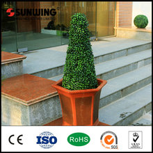 Preserved artificial spiral boxwood ball tree for decoration