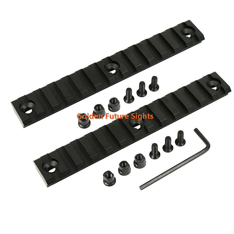 Tactical Precision CNC machined 13 Slots 5.25 inch Keymod Handguard Rail Section Picatinny Weaver Rail