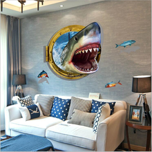 Self adhesive shark wallpaper for kids room