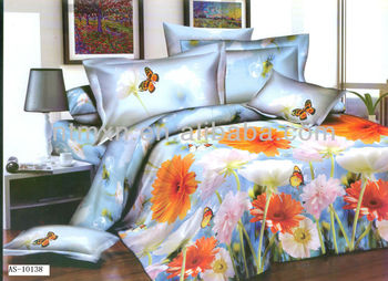 chinese flower printed bedding sets,king/queen/twin size,3d!!!!