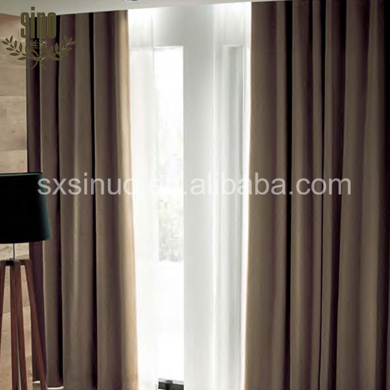 Hot Sale Top Quality Luxury Linen Hotel Blackout Curtains