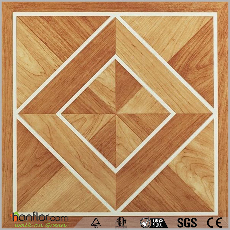 Glue down square type Parquet/Ceramic/Carpet vinyl floor tiles