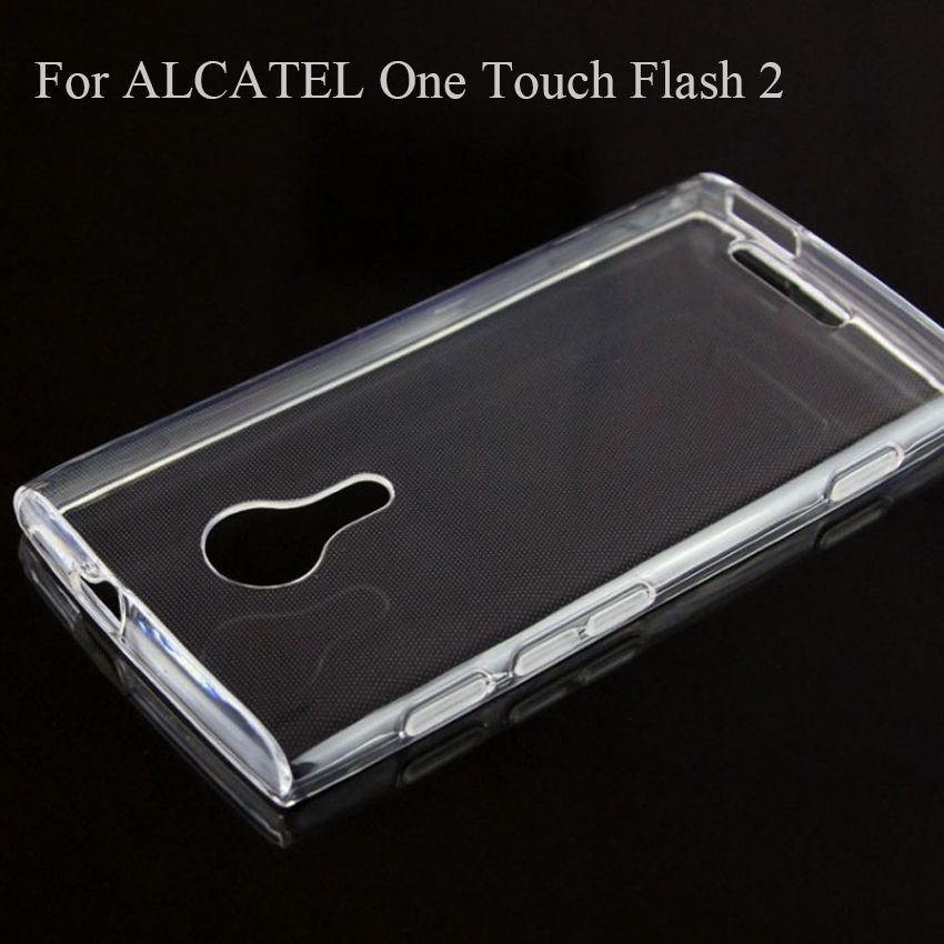 Wholesale For Alcatel One Touch Flash 2 Transparent Clear TPU Back Cover Phone Case