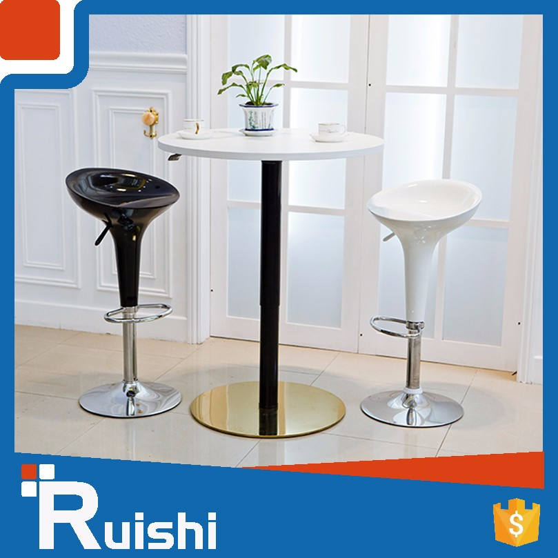 2016 Latest Deisgn Anti-collision One-Leg Stainless Steel Tea Table