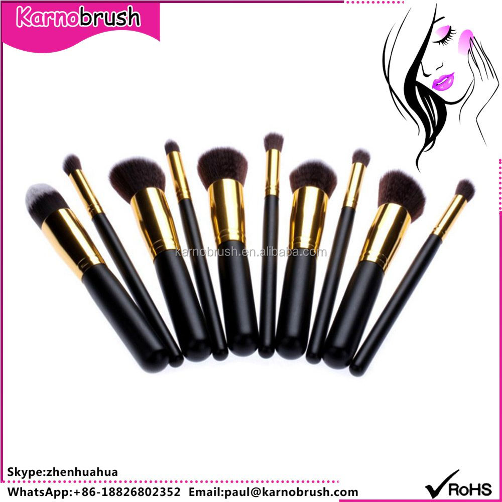 Factory Supply 10Pcs ODM makeup brush collection