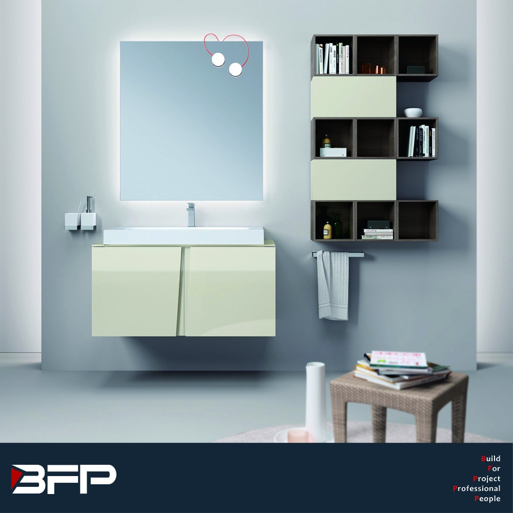 Laquer Kitchen Cabinet /Painted High Gloss Cabinet For Bathroom