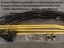 Jonyang excavator piping kits for JY644 JY200 JY300 JY161,JY135 to install hydraulic breaker,deomolition grab,graple etc.