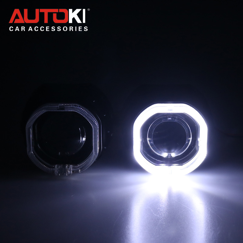Autoki Popular Product HID Projector Square Lens Lighting Guide Lens for All Cars