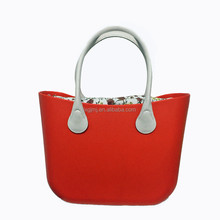 2018 Fashion trending Ladies o eva silicone tote bag custom Design Handbag
