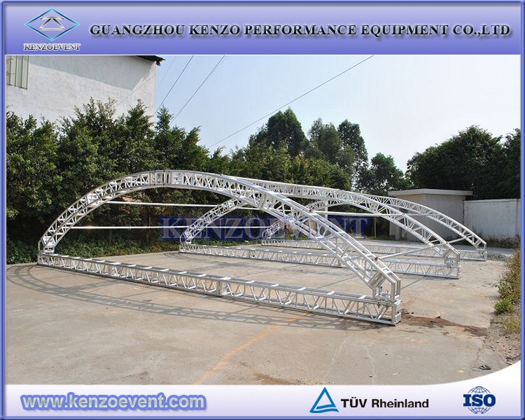 aluminum curved roof truss