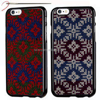 Hand embroidery DIY cross stitch dot view grid mesh slim shell cell phone case for iphone 6 6s
