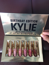 wholesale kylie jenner matte liquid lipstick 6pcs kylie jenner birthday edition golden lipgloss set