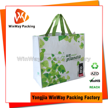 Bopp Laminated PP Woven Shopping Bag with Wine Holder Inside