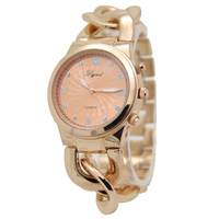 2016 new style fastion alloy bell and rose quartz watches