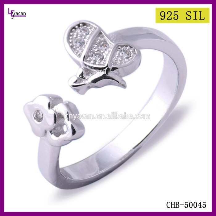 Flowers bees extensible new design gold finger ring