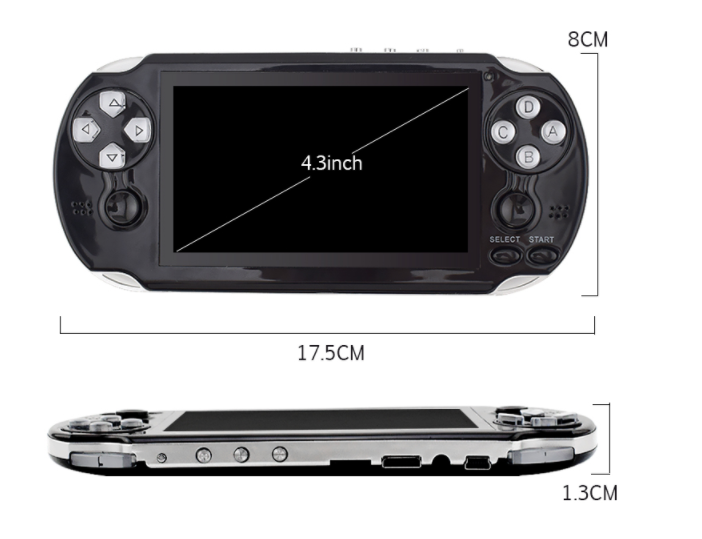Nicebest 32 Bit Handheld Game Players Multimedia Consoles 4.3inch game console