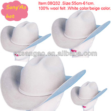 Making white men wool fedora hat for wholesale as formal style felt new