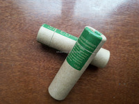 Empty lip balm ball containers paper tube for lip balm packaging