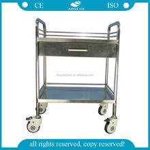 AG-SS040C With one drawer stainless steel trolley medical