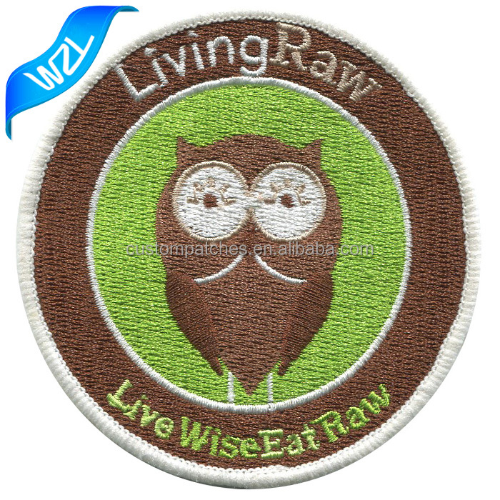 Laser cut Adhesive embroidery owl patches