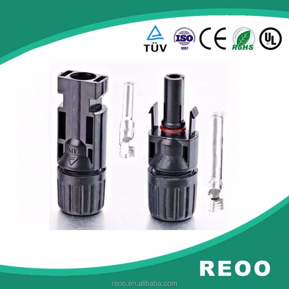 Slocable MC4 compatible solar cable connector low price Factory supply for solar photovoltaic system, solar power mc4 connector