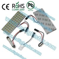 High lumen pcb led dome light with three adaptors festoon 1156 t10 reading lamp