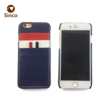 Flag design China phone case supplier 3 card slots back cover phone case for iphone 6
