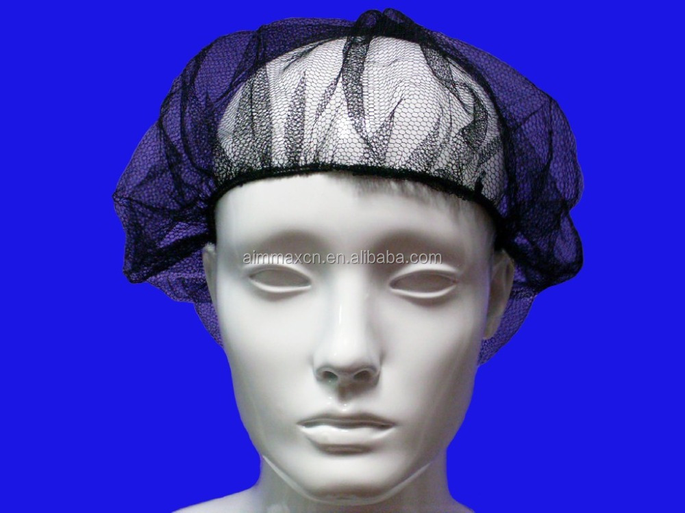 Disposable Nylon Surgical Hair Cap / Hair net For Electronics and Food Factory