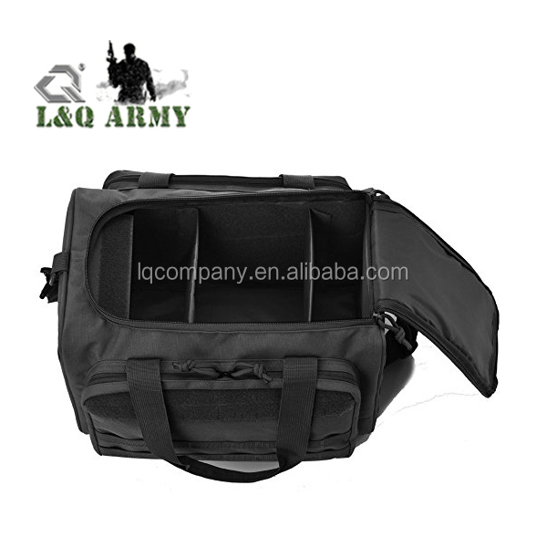 Tactical Shooting Range Bag with 5 Mag Holder and Built in Gun