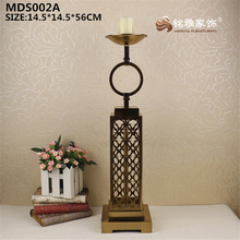 Wholesales plating gold color tall metal statue tealight candle holder