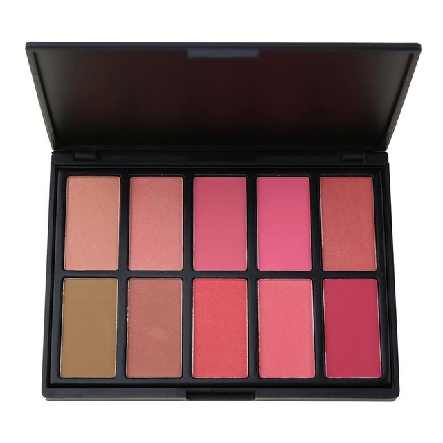 2017 New No Logo 10 color cosmetic cheek blusher makeup blush palette