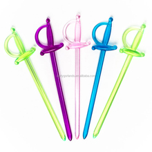 Food Grade Colorful Plastic Cocktail Picks Fruit Sticks