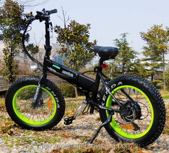"New and cool design electric bicycle fat tyre 20"" wheels"