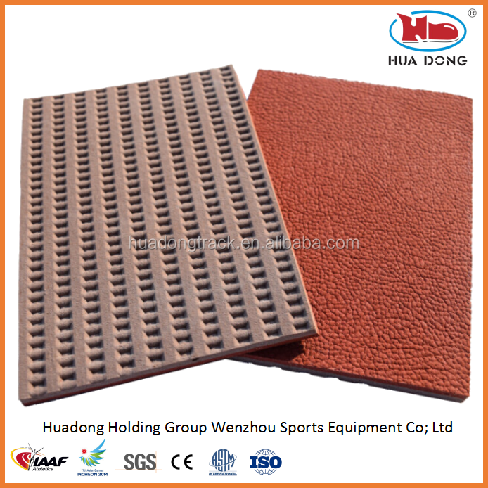 sport ground synthetic rubber mat, multi-purpose sports court volleyball rubber flooring roll