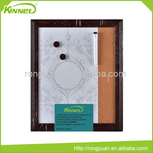 High quality MDF frame magnetic printed white magnet whiteboard with cork
