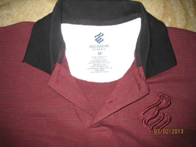 ROCAWEAR YARN DYED JERSEY POLO SHIRT