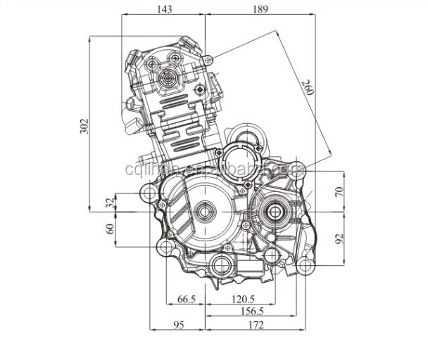 water cooled 4 valve cb250 zongshen 250cc atv engine with