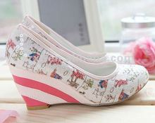 2012 Paillette lady wedges shoes/ladies colorful high heel shoe XT-SF335