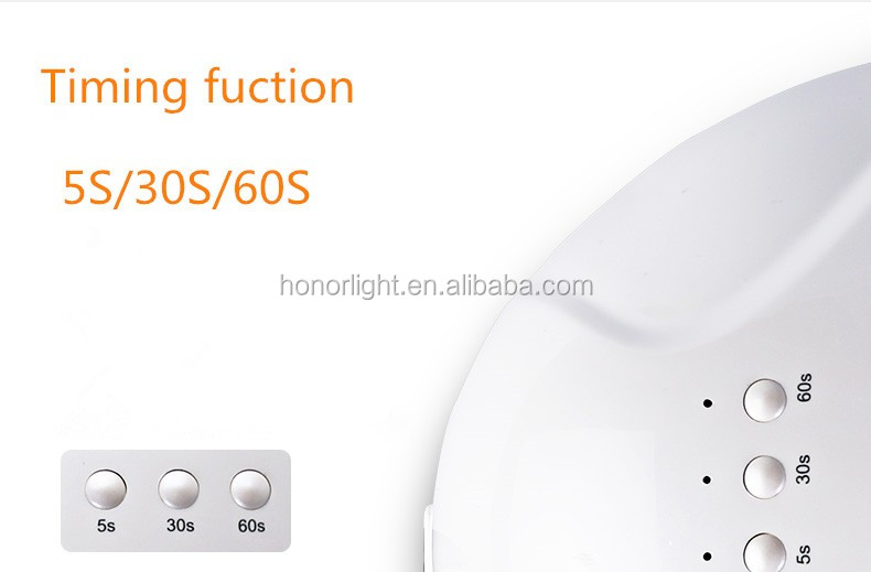 Wholesale cheap price 24W/48W gel nail lamp power switch freely automatic sensor uv nail lamp with timging fuction