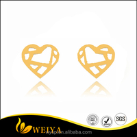 2016 Hot Sale Jewelry Infinity Heart Shape Studs Earrings As New Engagement Gift For Women/Men Brincos